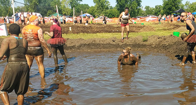 Mud volleyball raises funds for Epilepsy Foundation