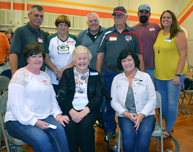 Former students and faculty gather for a Seward School reunion