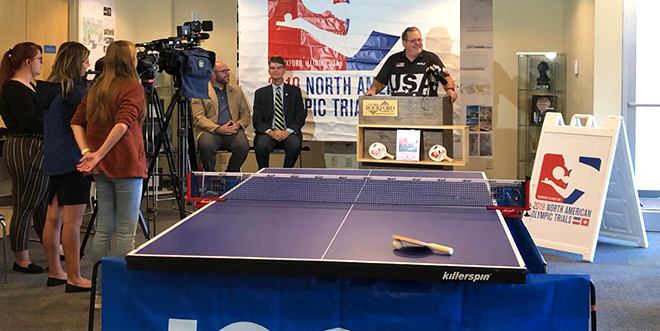 Community events held to support 2019 North American Olympic Table Tennis Trials in Rockford