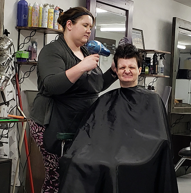 Local hairdresser makes lasting difference for people with disabilities