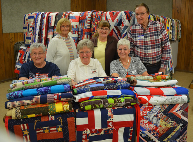 Threads and Treads donates 70 quilts to veterans