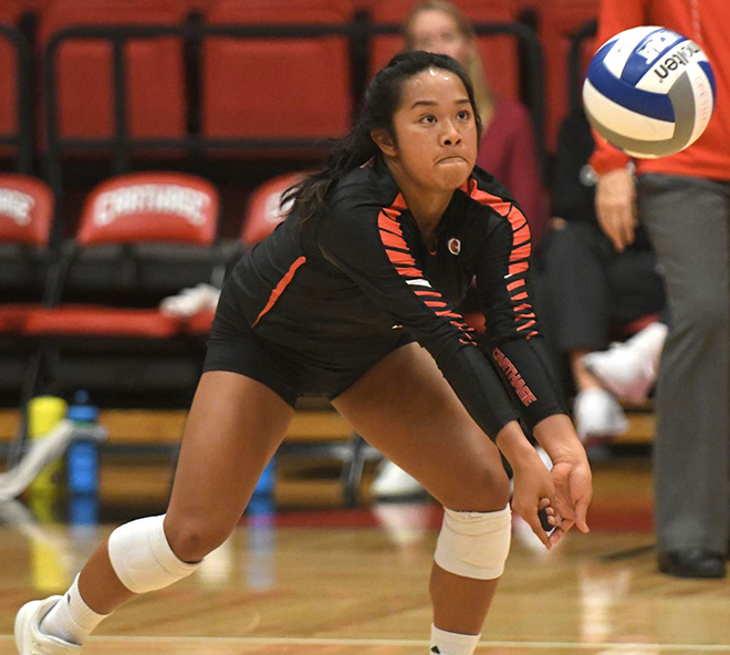 Rockford's Laura De Rosales was named CCIW Volleyball Defensive Player of the Week