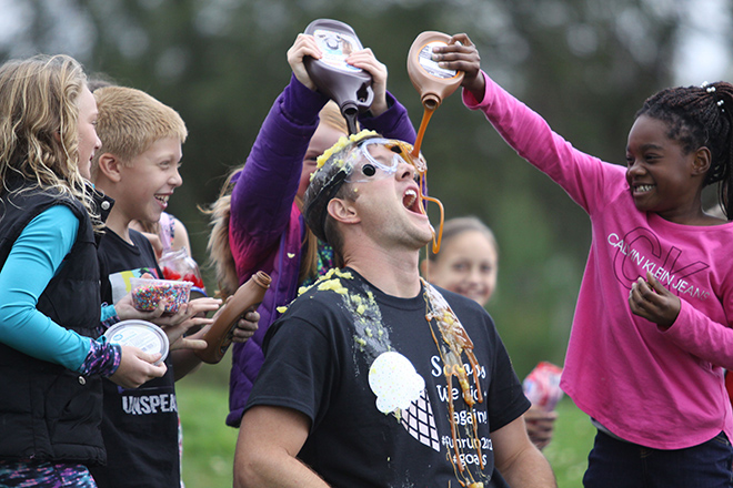 Whitman Post, Rockton Grade students meet fun run goals; teachers and staff become human sundaes