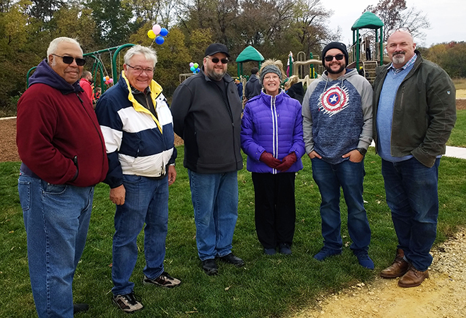 Chicory Ridge families celebrate dedication of long anticipated children's playground