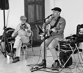 Danny's Gone Rogue entertains seniors at 50 North Christmas event