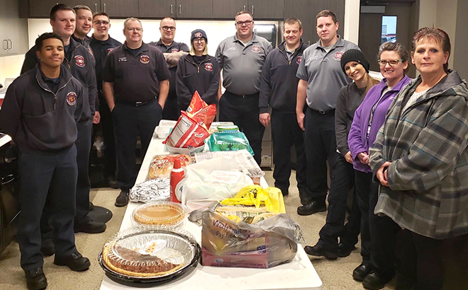 Thanksgiving at the fire station