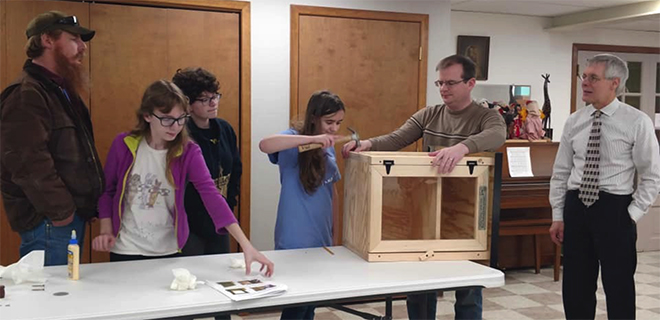 Girl Scouts make Little Library, Pantry at Middle Creek Presbyterian Church
