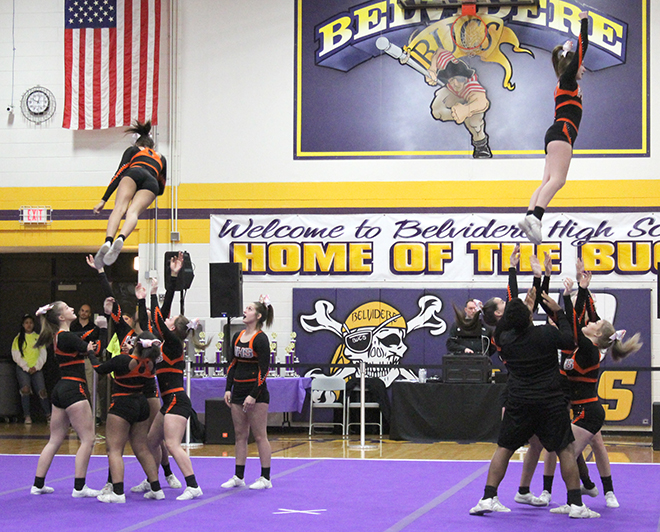 Harlem competitive cheer dominates Belvidere Winter Classic