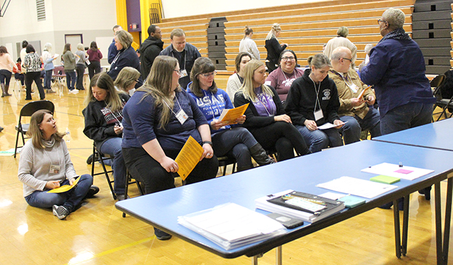 Poverty Simulation conducted at Belvidere South Middle School