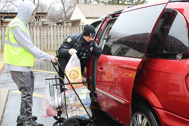 B-1 Food Pantry does drive-through