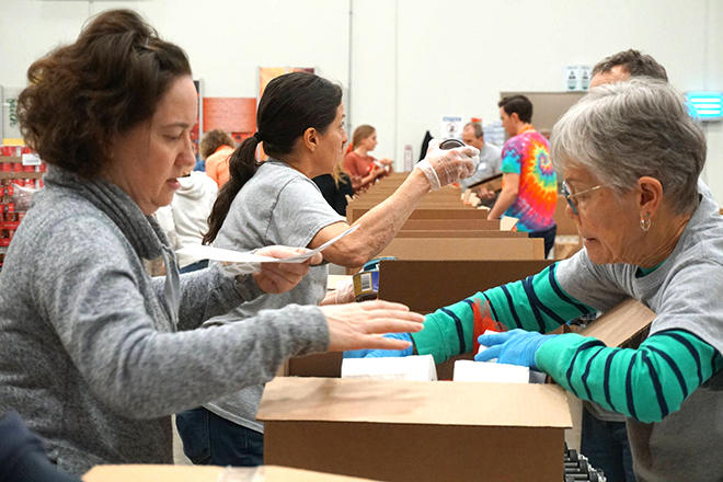 Coronavirus Relief Emergency Food Boxes Packing Event
