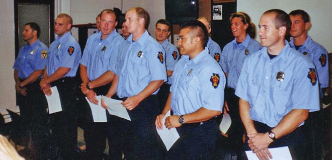 16 years of firefighting service
