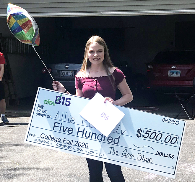 Elev815 delivers 10 scholarships to Hononegah grads