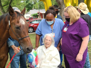 Hospice client turns 100 with special celebration