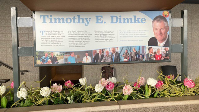 Largest Building on Mercyhealth Sportscore Two Campus named after former Rockford Park District Executive Director Tim Dimke