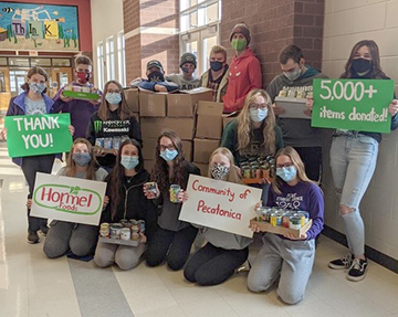 Pecatonica High School thankful for support shown by community and Hormel Foods