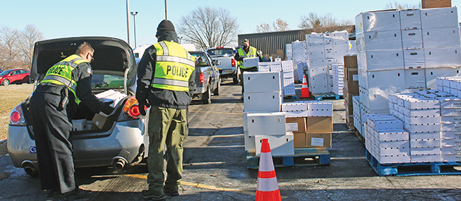 BPD's final food bank of 2020 braves chilly weather