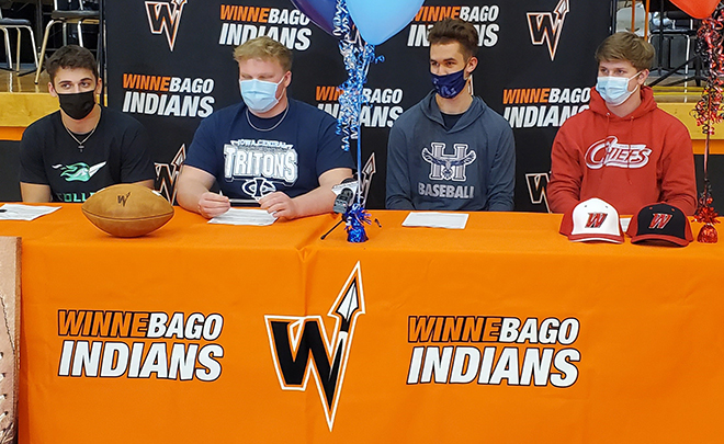 Four Winnebago athletics sign letters of intent