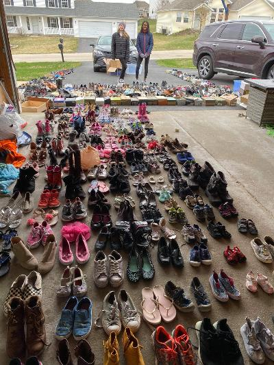 Stephen Mack 'Sole Sisters' provide shoes for families in need