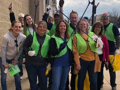 Volunteers clean up in Rockton, Township and surrounding areas