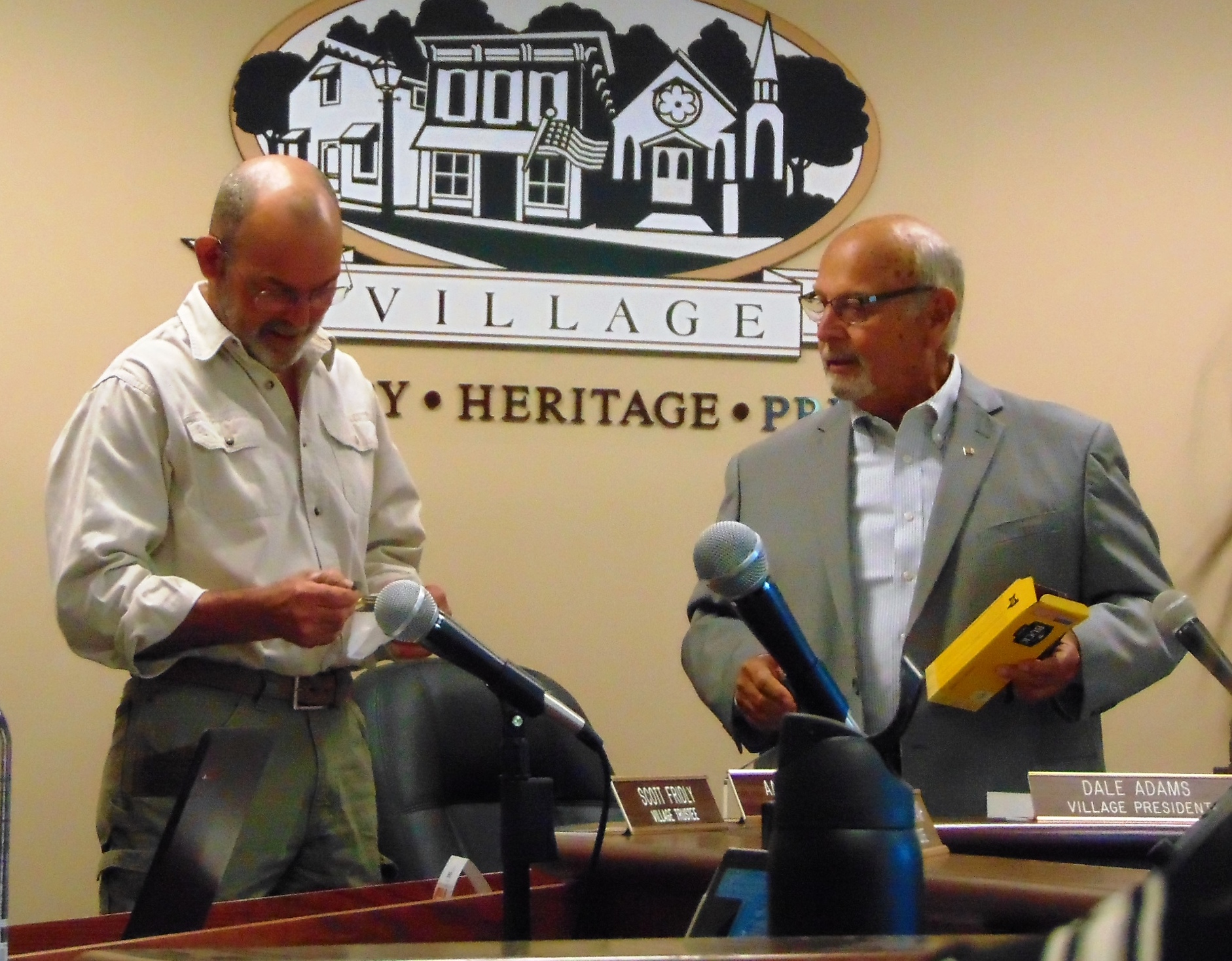 Outgoing Rockton Village President, Trustees recognized for years of service