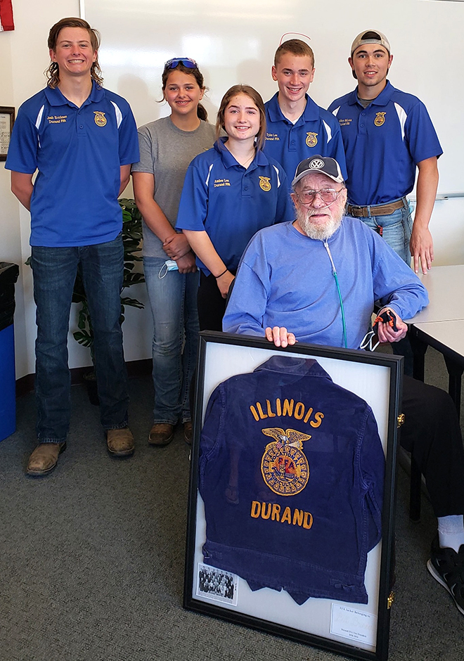 Durand FFA jacket returned to owner from Class of 1958