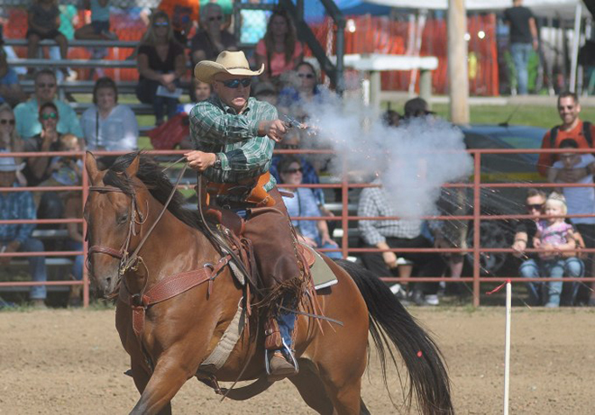 Cowboy Mounted Shooting competition returns to Fair