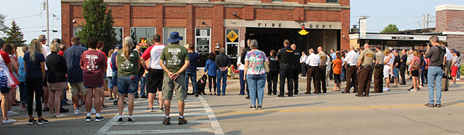9/11 Memorial Ceremony at Belvidere Fire Dept. larger than ever