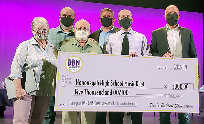 Hononegah School board recognizes students; donations given