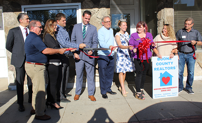 Grand Re-Opening of Boone County Realtors in Belvidere is a festive event